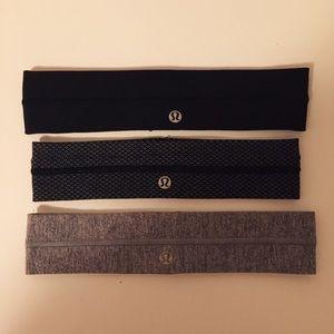 Lululemon set of 3 headbands